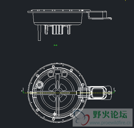 proe5.0 3D截面OK,绘制工程图时截面无法显示,求助 工程图图片