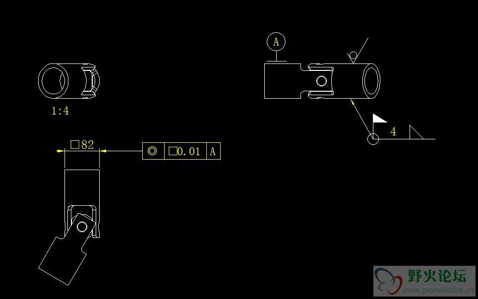 creo工程图导出为dwg,直径符号变方块
