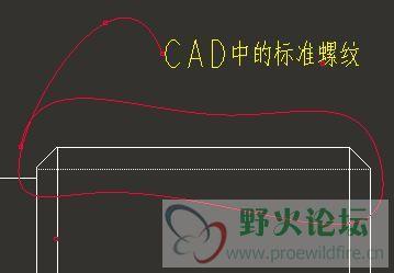 我该如何绘制螺纹,才会使其在PROE工程图中像CAD中的那样的标准图片