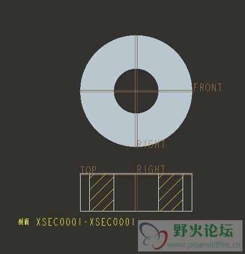 斜齿轮的工程图怎么画 Pro E 工程图 野火论坛
