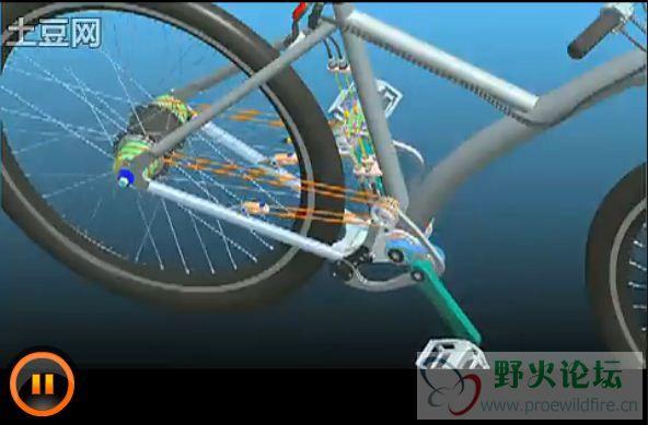 无链自行车工作原理图片