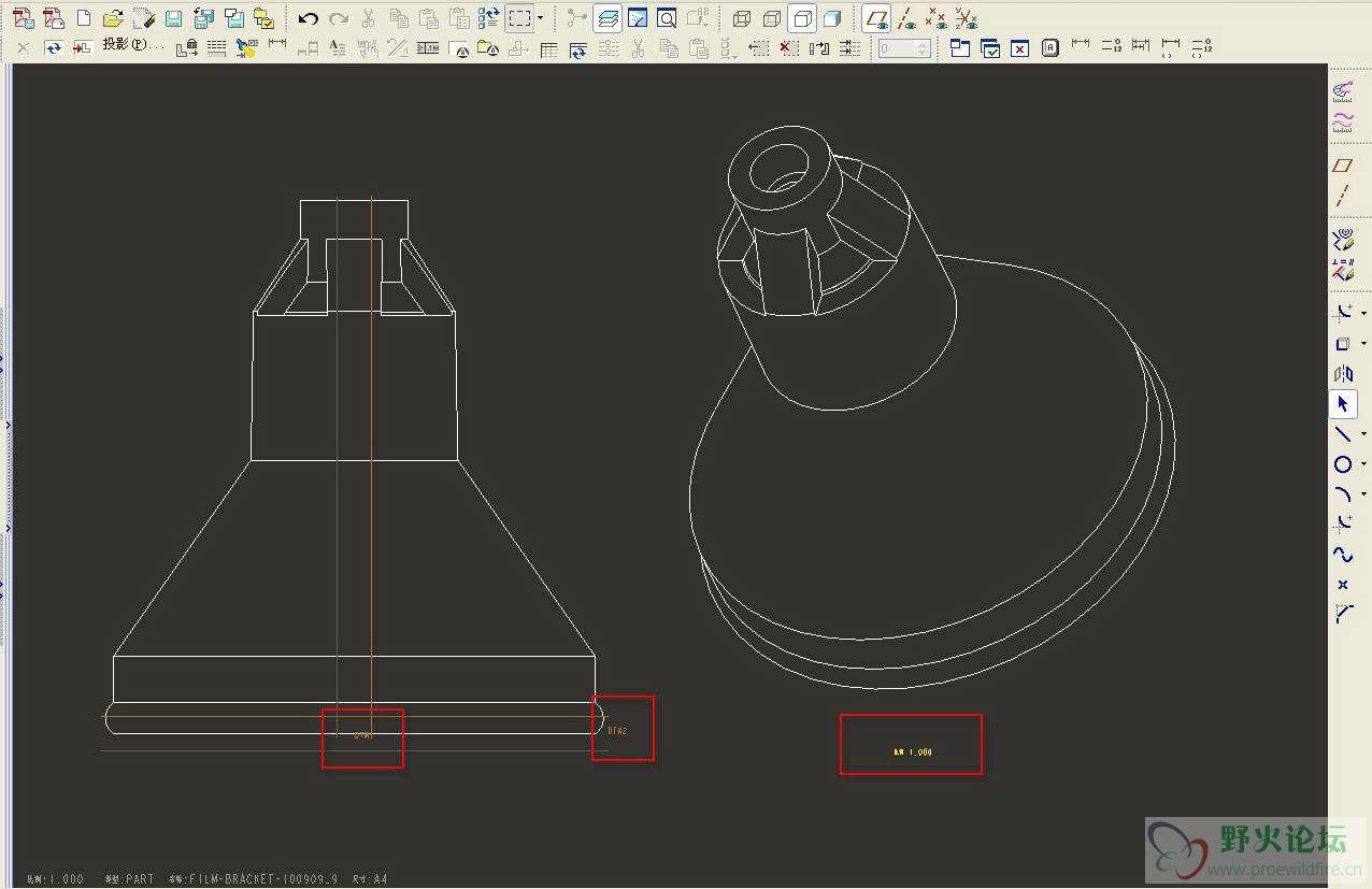 3D转2D时怎样设置文本大小 工程图图片