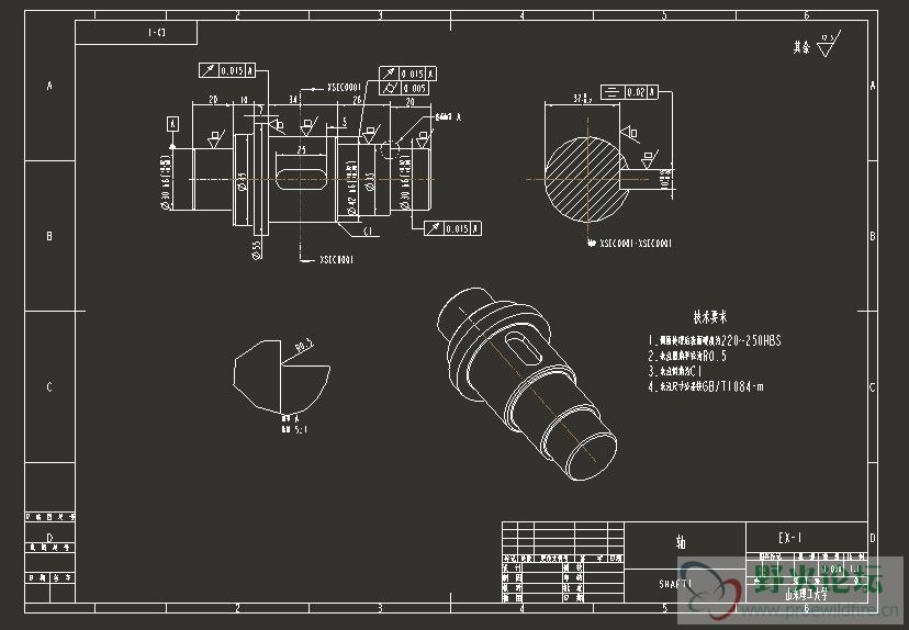 proe工程图导出dwg后用CAD打开,标注字体颜色的问题 工程图图片