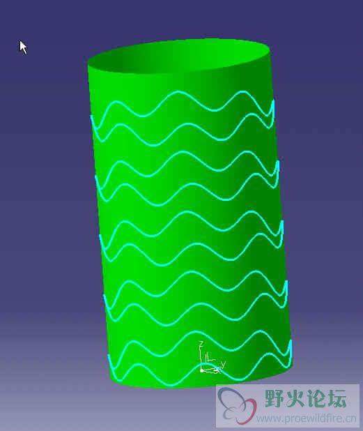 求助圆柱波浪线的画法图片